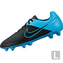 Nike Leather Magista Orden FG Soccer Cleats - Black and Blue