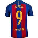 Nike Luis Suarez Barcelona Match Home Jersey 2016-17