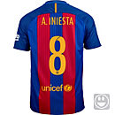 Nike Kids Andres Iniesta Barcelona Home Jersey 2016-17