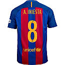 Nike Andres Iniesta Barcelona Home Jersey 2016-17