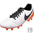 Nike Tiempo Legacy II FG Soccer Cleats - White & Total Orange