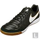 Nike Tiempo Mystic V IC Soccer Shoes - Black & White