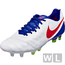Nike Womens Tiempo Legend VI FG - White & Racer Blue