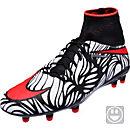 Nike Kids Hypervenom Phantom II FG Soccer Cleats- Neymar Jr - Black & Total Crimson