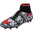 Nike Hypervenom Phantom II FG Soccer Cleats - Neymar Jr - Black & Total Crimson