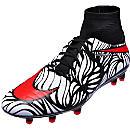 Nike Hypervenom Phatal II DF FG Soccer Cleats - Neymar Jr - Black & Total Crimson