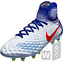 Nike Womens Magista Obra II FG Soccer Cleats - Pure Platinum & Racer Blue