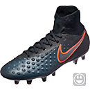 Nike Kids Magista Obra II FG Soccer Cleats - Black & Total Crimson