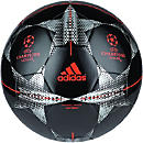 adidas Finale 15 Capitano Soccer Ball - Black & Silver Metallic