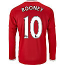 adidas Wayne Rooney Manchester United L/S Home Jersey