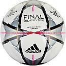 adidas Finale Milano Capitano Soccer Ball - White & Silver Metallic