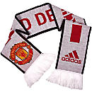 adidas Manchester United Scarf - White & Real Red