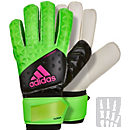 adidas ACE Fingersave Replique Goalkeeper Gloves - Solar Green & Black