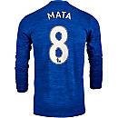 adidas Juan Mata Manchester United L/S Away Jersey 2016-17