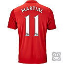 adidas Kids Anthony Martial Manchester United Home Jersey 2016-17
