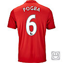 adidas Kids Paul Pogba Manchester United Home Jersey 2016-17