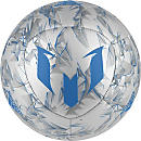 adidas Messi Soccer Ball - Silver Metallic & Shock Blue