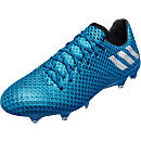 adidas Messi 16.1 FG Soccer Cleats - Shock Blue & Matte Silver