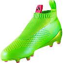 adidas ACE 16+ GTI FG/AG - Pure Control - Solar Green & Shock Pink