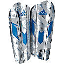 adidas Messi 10 Pro Shin Guard - Silver Metallic & Shock Blue