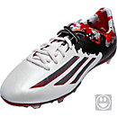 adidas Youth Messi 10.1 FG Soccer Cleats - White and Grey