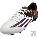 adidas Youth Messi 10.3 FG Soccer Cleats - White and Grey