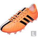 adidas 11Pro FG Soccer Cleats - White and Flash Orange