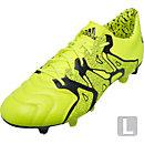adidas X 15.1 Leather FG/AG Soccer Cleats - Solar Yellow