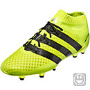 adidas Kids ACE 16.1 Primeknit FG Soccer Cleats - Solar Yellow & Silver Metallic
