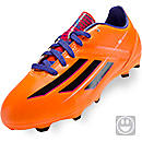 adidas Youth F10 TRX FG Soccer Cleats  Solar Zest with Blast Purple