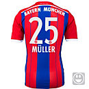 adidas Kids Muller Bayern Munich Home Jersey 2014-15