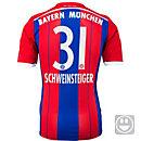 adidas Kids Schweinsteiger  Bayern Munich Home Jersey 2014-15