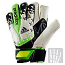 adidas Predator Fingersave Allround Goalie Gloves White and Ray Green