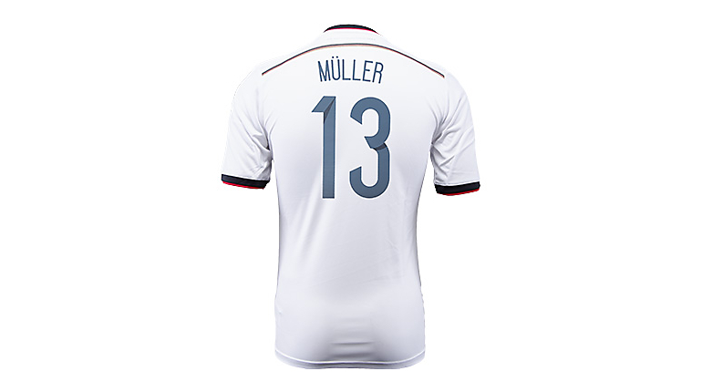 adidas Germany Muller World Cup Home Jersey