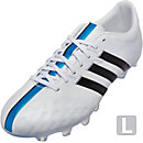 adidas 11Pro FG Soccer Cleats - White and Black