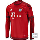 adidas Bayern Munich Long Sleeve Home Jersey 2015-16