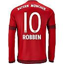 adidas Arjen Robben Bayern Munich L/S Home Jersey 2015