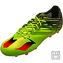 adidas Kids Messi 15.1 FG Soccer Cleats - Semi Solar Slime & Solar Red