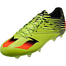 adidas Messi 15.2 FG/AG Soccer Cleats - Semi Solar Slime & Solar Red