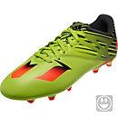 adidas Kids Messi 15.3 FG Soccer Cleats - Semi Solar Slime & Solar Red