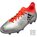 adidas Kids X 16.3 FG - Silver Metallic & Core Black