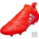 adidas Kids X 16+ PureChaos FG Soccer Cleats - Solar Red & Silver Metallic