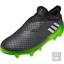 adidas Kids Messi 16+ Pureagility FG Soccer Cleats - Dark Grey & Metallic Silver