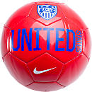 Nike USA Supporter Soccer Ball  Red with White