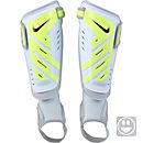 Nike Youth Protegga Shield Shin Guards - White and Volt
