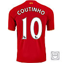 New Balance Kids Philippe Coutinho Liverpool Home Jersey 2015
