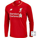 New Balance Liverpool Long Sleeve Home Jersey 2015-16