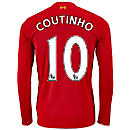 New Balance Pilippe Coutinho Liverpool L/S Home Jersey 2015